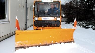 Winter Schildfahrzeug Winterdienst