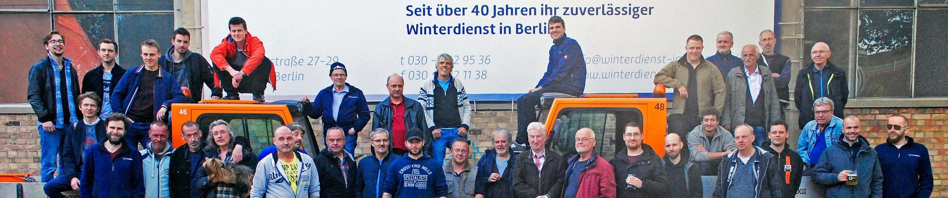 Teamfoto Winterdienst im Norden Berlin Saison 18/19